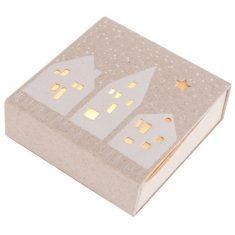 Kleine Winter Lichtbox - Häuser