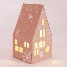 Kleines Winter Lichthaus - Schneeflocken