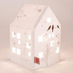 Kleines Winter Lichthaus - Vögel