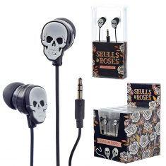 Kopfhörer Ear-Bud - Totenkopf, Skulls & Roses