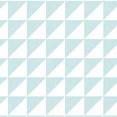 Geschenkpapier - Dreiecke türkis