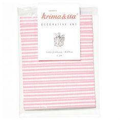 Schleifenband - gestreift rosa