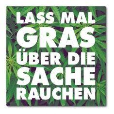 Kühlschrankmagnet - Gras rauchen