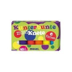 Kunterbunte Mini-Knete, 6 Stück