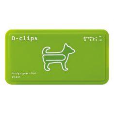 Büroklammern D-CLIPS - Dog silber, 20 Stück
