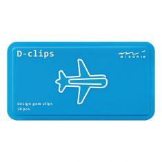 Büroklammern D-CLIPS - Plane silber, 20 Stück