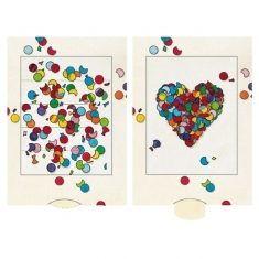 Lebende Karte - Konfetti-Herz
