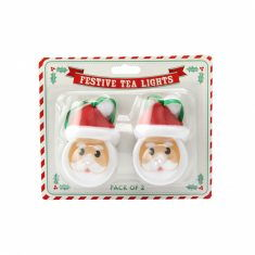 LED-Teelichter - Weihnachtsmann