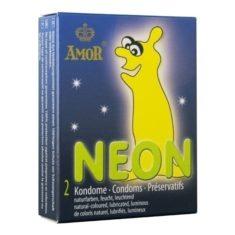 Leucht-Kondom - Amor Neon 2er