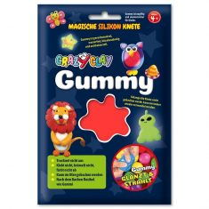 CrazyClay Gummy - Basic-Knete Rot