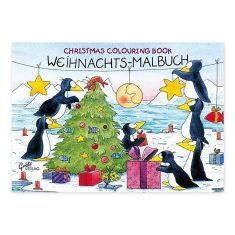 Malbuch - Pinguin-Weihnacht