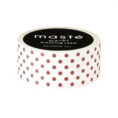 Masking Tape - Bordeaux Dots