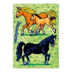 Fensterbild-Postkarte - Pferde