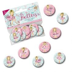 Mini-Buttons - Ballerina, 8er-Set