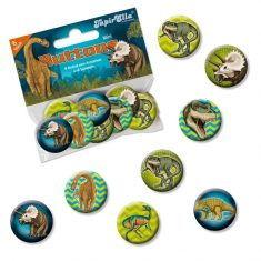 Mini-Buttons - Dinosaurier, 8er-Set