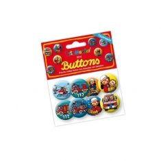 Mini-Buttons - Feuerwehr, 8er-Set