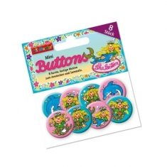 Mini-Buttons - Nixe Sina Seestern, 8er-Set