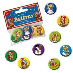 Mini-Buttons - Weihnachten, 8er-Set