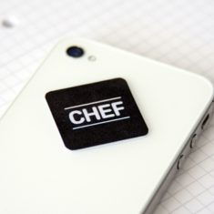 Mini-Display-Cleaner - Chef, schwarz