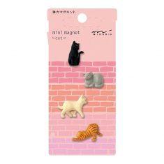 Mini Magnete - Cat, 4 Stück