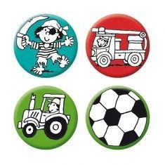 Mini-Reflektor-Buttons - Jungen 2, 4er-Set