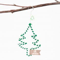 Mini Winter Wollornament - Tannenbaum