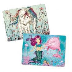 Minipuzzle - Einhorn, Pferde, Meerjungfrau