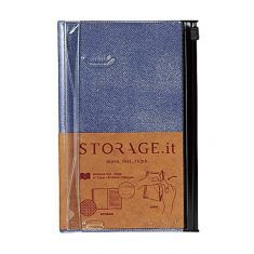 Storage.it - Notebook small, Vintage Denim Blue