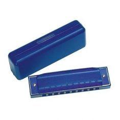 Mundharmonika, blau