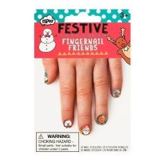 Nagelsticker - Weihnachtsfreunde