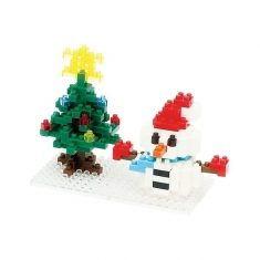 Nanoblock Mini Collection - Snowman & Christmas Tree