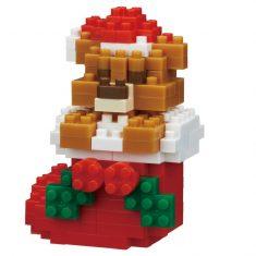 Nanoblock Mini Collection - Teddybär mit Weihnachtsstrumpf