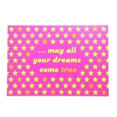 Neon-Postkarte, ...may all your dreams come true