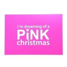 Neon-Postkarte, PINK christmas