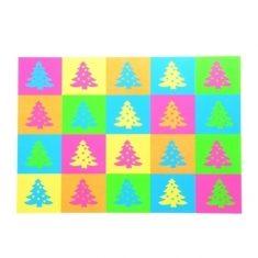 Neon-Postkarte, Weihnachtsbäume