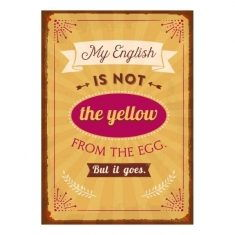 Notizheftchen - My english is not the yellow from the egg...