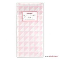 Papiertüten - Dreiecke rosa, 6er-Set