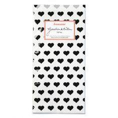 Papiertüten - Herzen schwarz, 6er-Set