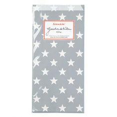 Papiertüten - Sterne grau, 6er-Set