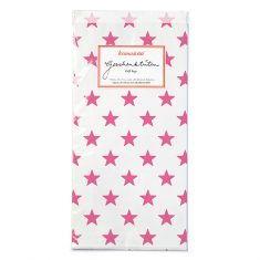 Papiertüten - Sterne pink, 6er-Set