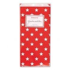 Papiertüten - Sterne rot, 6er-Set