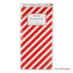 Papiertüten - Zuckerstangen rot, 6er-Set