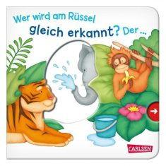 Pappbuch - Wer wird am Rüssel gleich erkannt? Der ... Elefant!