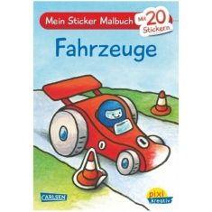 Pixi kreativ - Mein Sticker-Malbuch, Fahrzeuge