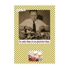 Postkarte - 1x1 der Ehe, Glücklicher Mann