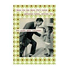 Postkarte - 1x1 der Ehe, Mann fürs Leben