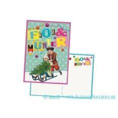 Postkarte - Froh & Munter