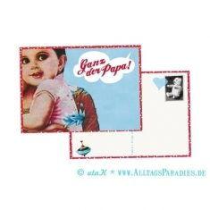 Postkarte - Ganz der Papa!