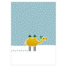 Postkarte - Kamel
