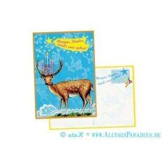 Postkarte - Morgen, Kinder, wird's was geben
